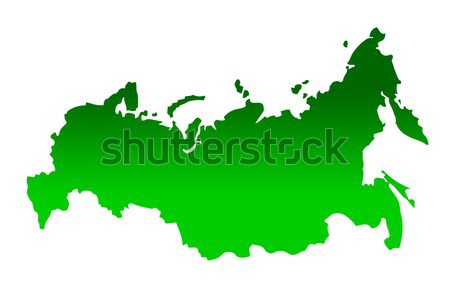 Old green map of Russian Federation Stock photo © speedfighter