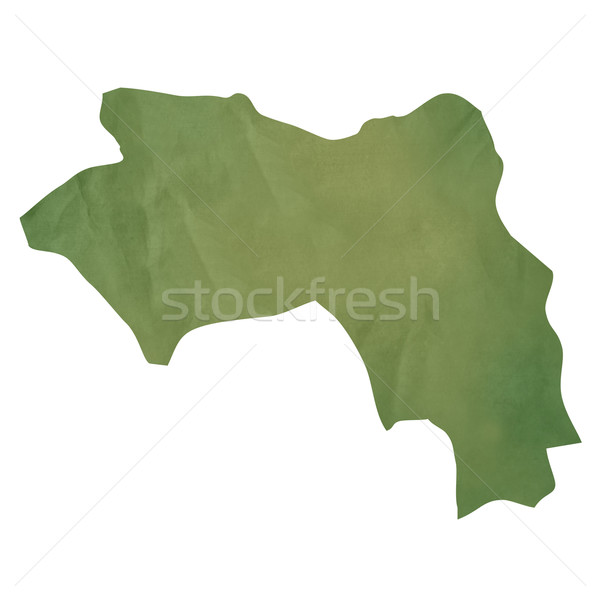 Old green paper map of Guinea Stock photo © speedfighter