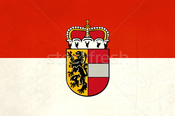 Grunge Salzburg city and state flag Stock photo © speedfighter