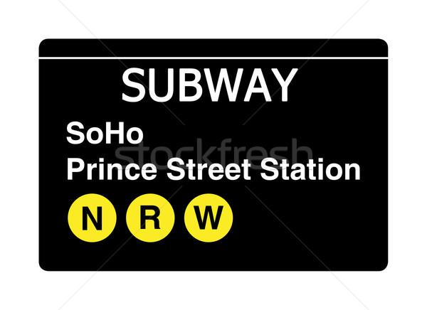 Prens sokak istasyon metro imzalamak yalıtılmış Stok fotoğraf © speedfighter