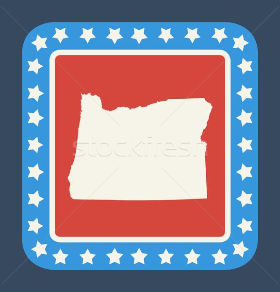 Oregon state button Stock photo © speedfighter