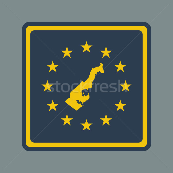 Monaco européenne pavillon bouton sensible web design Photo stock © speedfighter