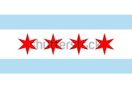 Chicago bayrak şehir Louisiana ABD seyahat Stok fotoğraf © speedfighter