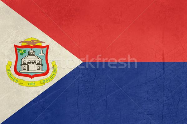 Grunge Sint Maarten flag Stock photo © speedfighter