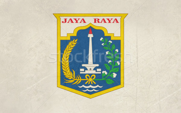 Jakarta city flag Stock photo © speedfighter