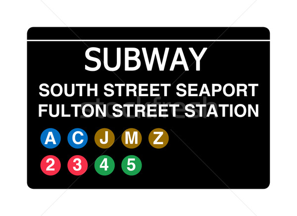 South Street Seaport Fulton Street Station subway sign Stock photo © speedfighter