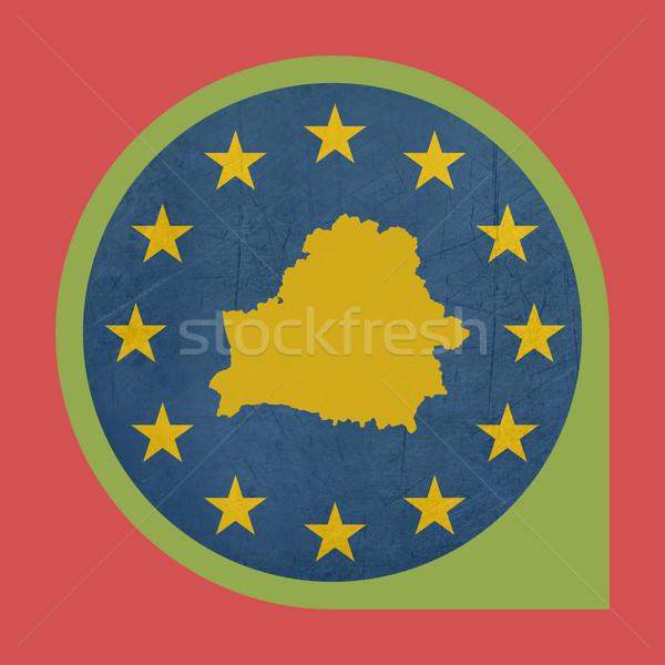 Európai szövetség Fehéroroszország jelző tő izolált Stock fotó © speedfighter