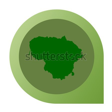 Isolated Bosnia and Herzegovina map marker pin Stock photo © speedfighter