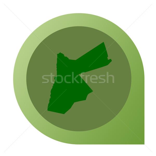 Izolált térkép jelző tő web design stílus Stock fotó © speedfighter