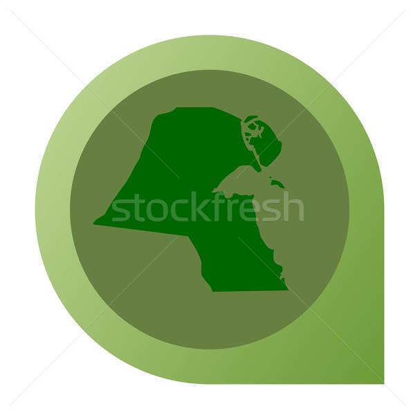 Isolated Kuwait map marker pin Stock photo © speedfighter