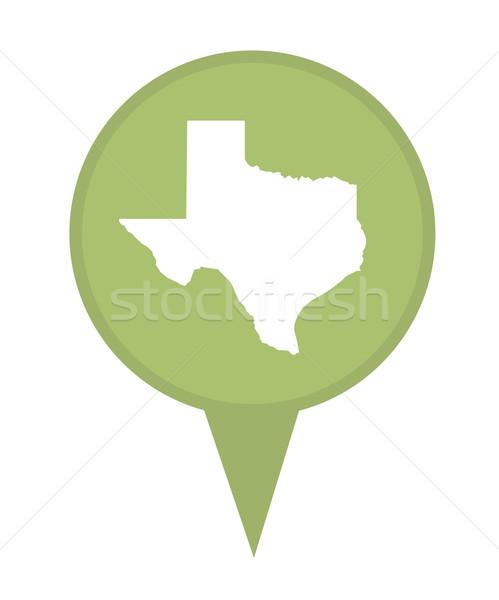 テキサス州 地図 ピン アメリカン マーカー 孤立した ストックフォト © speedfighter