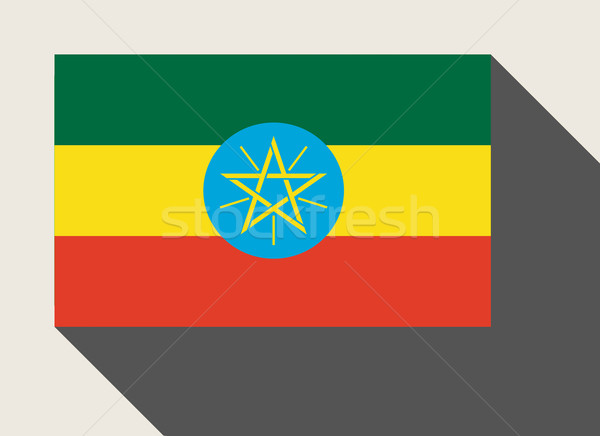Etiopia banderą web design stylu przycisk Zdjęcia stock © speedfighter