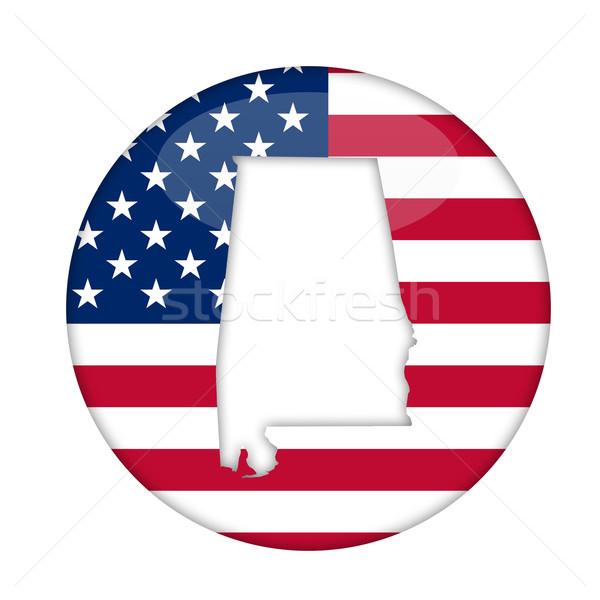 Алабама Америки Знак изолированный белый бизнеса Сток-фото © speedfighter