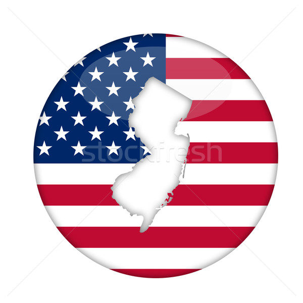 New Jersey amerika badge geïsoleerd witte business Stockfoto © speedfighter