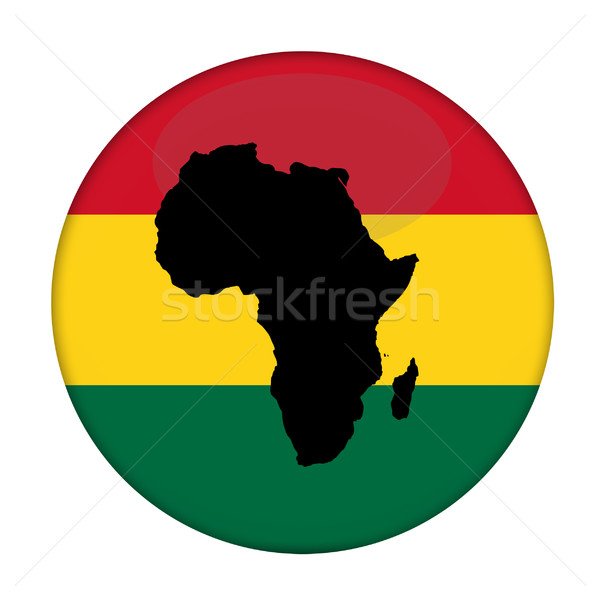 Continent of Africa flag button Stock photo © speedfighter