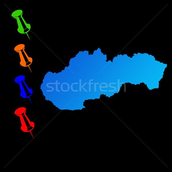 Slovakia travel map Stock photo © speedfighter