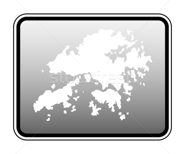 Hong Kong map on computer tablet Stock photo © speedfighter