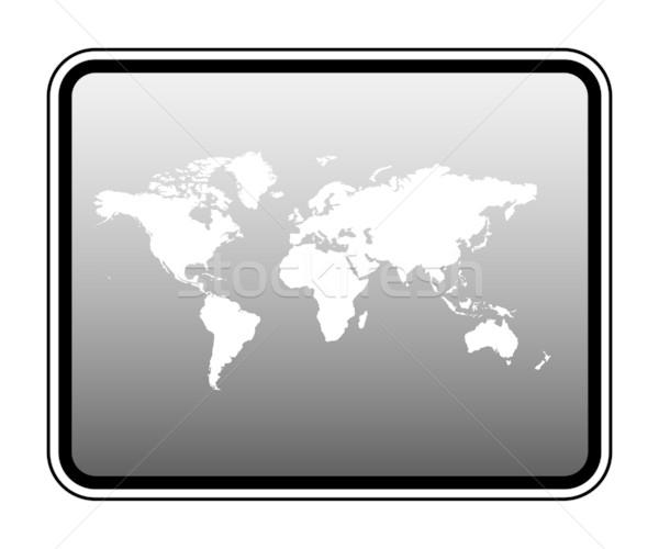 World map on computer tablet Stock photo © speedfighter