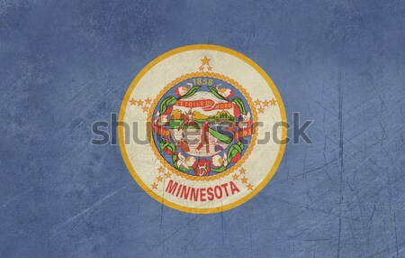 Grunge Minnesota state flag Stock photo © speedfighter