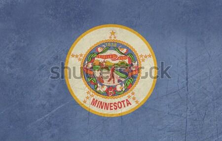 Гранж Миннесота флаг Америки изолированный белый Сток-фото © speedfighter
