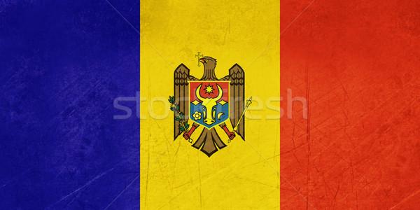 Grunge Moldova zászló vidék hivatalos színek Stock fotó © speedfighter
