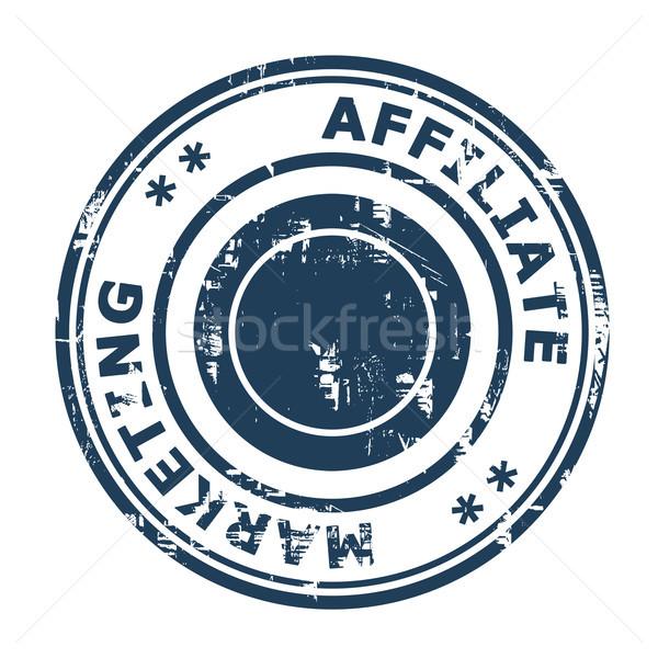 Affiliate marketing concept stamp Stock photo © speedfighter