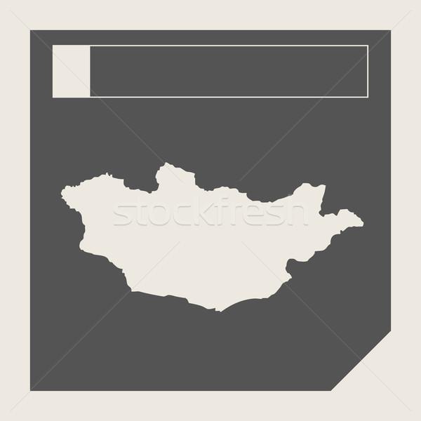 Mongolia map button Stock photo © speedfighter