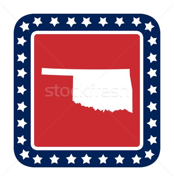 Oklahoma botão bandeira americana web design estilo isolado Foto stock © speedfighter