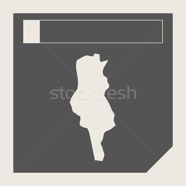Тунис карта кнопки отзывчивый веб-дизайна изолированный Сток-фото © speedfighter