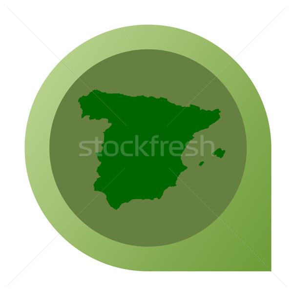 Isolated Spain map marker pin Stock photo © speedfighter