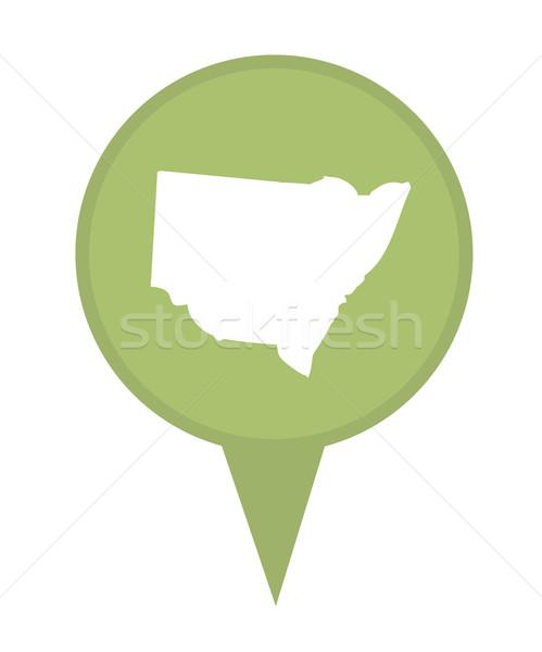 Australia nueva gales del sur mapa marcador pin aislado Foto stock © speedfighter