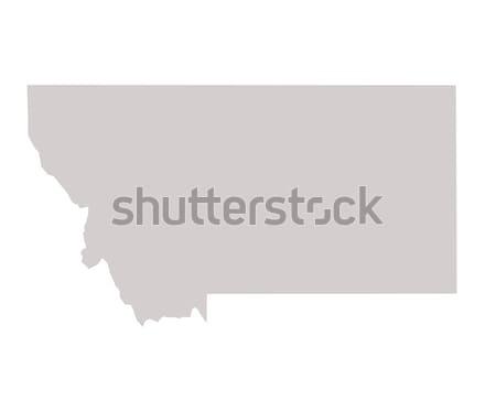 Montana harita yalıtılmış beyaz ABD Amerika Stok fotoğraf © speedfighter