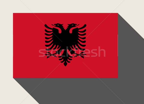Albania flag Stock photo © speedfighter