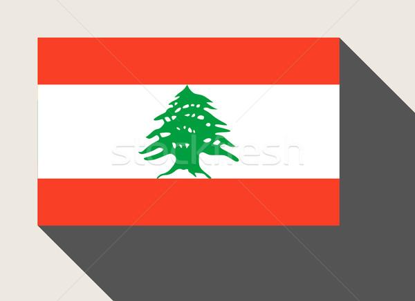 Ливан флаг веб-дизайна стиль карта кнопки Сток-фото © speedfighter