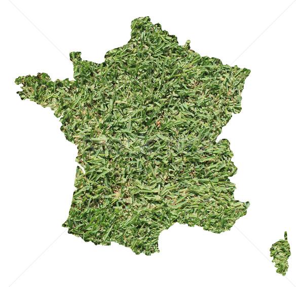 Francia ambiental mapa hierba verde ecológico naturaleza Foto stock © speedfighter