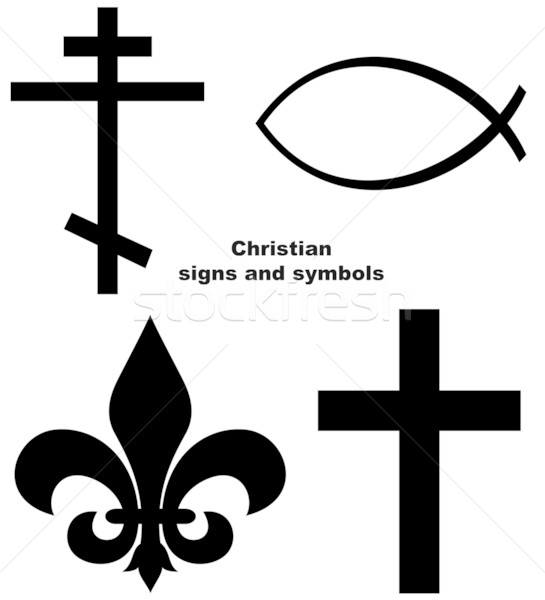 Set of Christian signs Stock photo © speedfighter