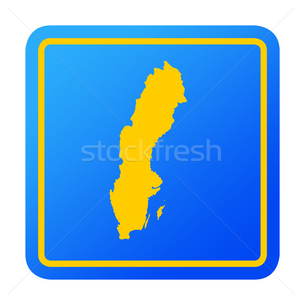 Svezia pulsante isolato bianco Foto d'archivio © speedfighter