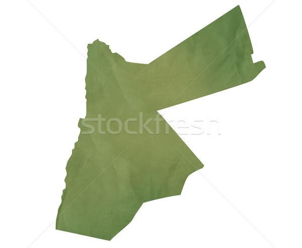 Alten grünen Karte Jordan Papier Stock foto © speedfighter