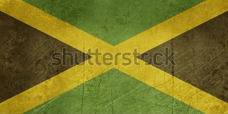 Grunge Jamaïque pavillon pays officielle couleurs Photo stock © speedfighter