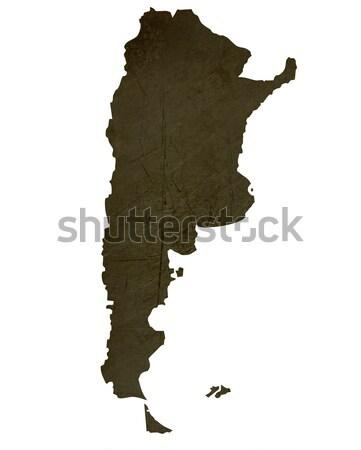 Dark silhouetted map of Argentia Stock photo © speedfighter