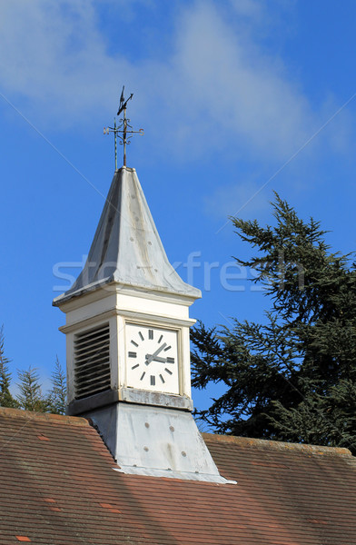 Saat kule fırıldak eski bina İngiltere yüz Stok fotoğraf © speedfighter