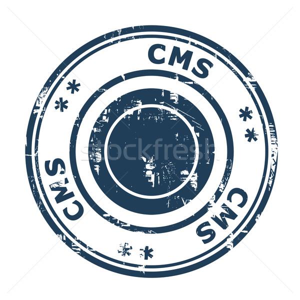 Cms negocios sello aislado blanco web Foto stock © speedfighter