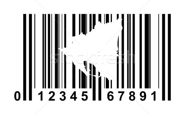 Nicaragua streepjescode winkelen geïsoleerd witte reizen Stockfoto © speedfighter