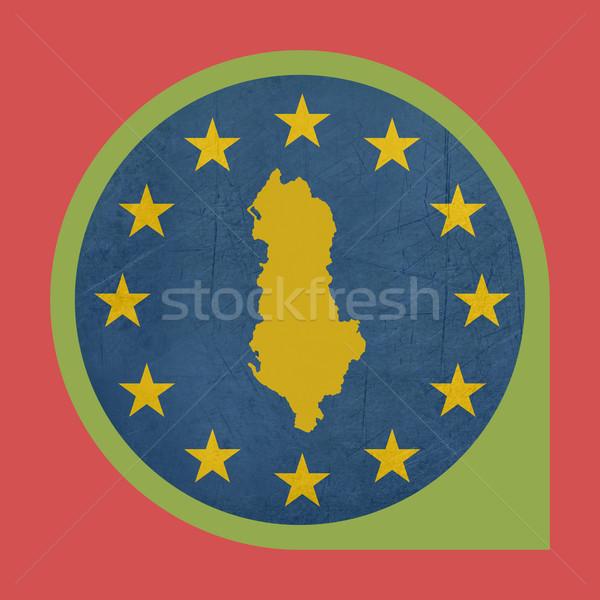 European Union Albania marker pin Stock photo © speedfighter