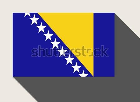 Bosnia Herzegovina bandera diseno web estilo botón aislado Foto stock © speedfighter
