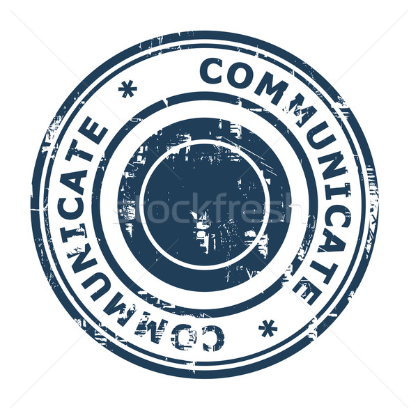 Comunicar negócio isolado branco azul Foto stock © speedfighter