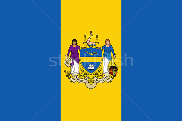Philadelphia city flag Stock photo © speedfighter