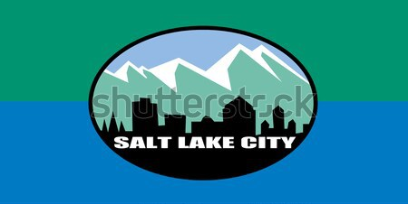 Stock photo: Salt Lake city flag