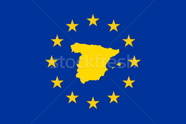 Spain European flag Stock photo © speedfighter