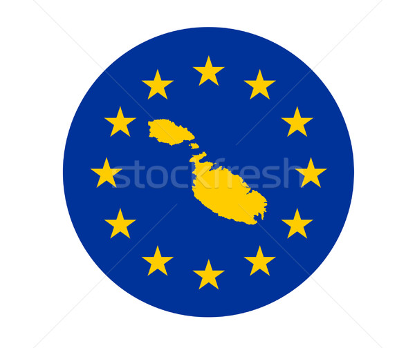 Мальта европейский флаг карта Союза желтый Сток-фото © speedfighter